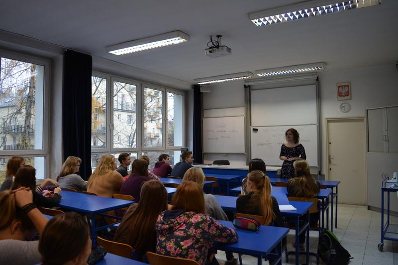 Работа в Польше с ребенком - урок в школе